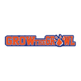 Large Decal-Grow the Growl Horizontal