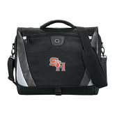 Slope Compu Black/Grey Messenger Bag-SH Paw Official Logo