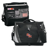 Slope Black/Grey Compu Messenger Bag-SH Paw Official Logo