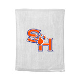 White Rally Towel-SH Paw Official Logo