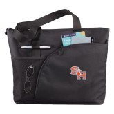 Excel Black Sport Utility Tote-SH Paw Official Logo