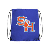 Nylon Royal Drawstring Backpack-SH Paw Official Logo