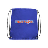 Nylon Royal Drawstring Backpack-Bearkats