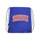 Nylon Royal Drawstring Backpack-Arched SHSU