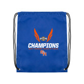 Nylon Royal Drawstring Backpack-Southland Conference Indoor Track and Field Champions