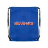 Royal Drawstring Backpack-Sam Houston Bearkats