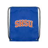 Nylon Royal Drawstring Backpack-Arched SHSU