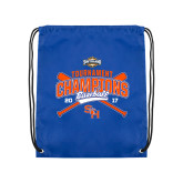 Royal Drawstring Backpack-2017 Southland Conference Baseball Champions