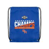 Nylon Royal Drawstring Backpack-2017 Southland Conference Baseball Champions
