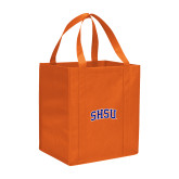 Non Woven Orange Grocery Tote-Arched SHSU