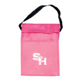 Koozie Pink Lunch Sack-SH Paw Official Logo