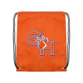 Orange Drawstring Backpack-SH Paw Official Logo