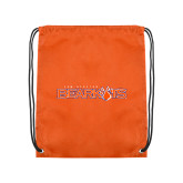 Orange Drawstring Backpack-Sam Houston Bearkats