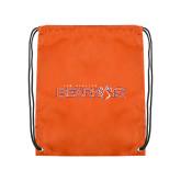 Nylon Orange Drawstring Backpack-Sam Houston Bearkats