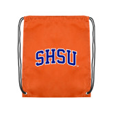 Orange Drawstring Backpack-Arched SHSU