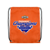 Orange Drawstring Backpack-2017 Southland Conference Baseball Champions