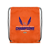 Nylon Orange Drawstring Backpack-2017 Southland Conference Mens Track and Field