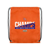Orange Drawstring Backpack-2017 Southland Conference Mens Track and Field
