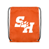 Orange Drawstring Backpack-Primary Athletics Mark