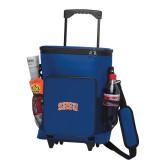 30 Can Blue Rolling Cooler Bag-Arched SHSU