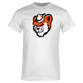 White T Shirt-Bearkat Head