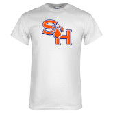 White T Shirt-SH Paw Official Logo