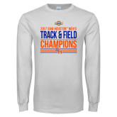 White Long Sleeve T Shirt-2017 Southland Conference Mens Track and Field
