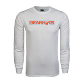 White Long Sleeve T Shirt-Bearkats