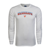 White Long Sleeve T Shirt-Arched Sam Houston State Bearkats w/Paw