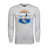 White Long Sleeve T Shirt-Finish Em in the 4th