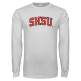 White Long Sleeve T Shirt-Arched SHSU