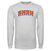 White Long Sleeve T Shirt-Arched SHSU Bearkats