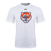 Under Armour White Tech Tee-Bearkat Head
