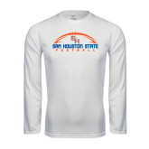 Syntrel Performance White Longsleeve Shirt-Arched Football Design
