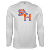 Syntrel Performance White Longsleeve Shirt-SH Paw Official Logo