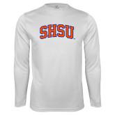 Syntrel Performance White Longsleeve Shirt-Arched SHSU
