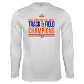 Syntrel Performance White Longsleeve Shirt-2017 Southland Conference Mens Track and Field