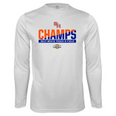 Performance White Longsleeve Shirt-2017 Southland Conference Mens Track and Field