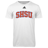 Adidas Climalite White Ultimate Performance Tee-Arched SHSU