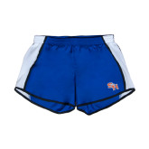 Ladies Royal/White Team Short-SH Paw Official Logo