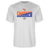 Performance White Tee-2017 Southland Conference Mens Track and Field