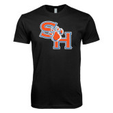 Next Level SoftStyle Black T Shirt-SH Paw Official Logo