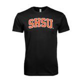 Next Level SoftStyle Black T Shirt-Arched SHSU