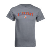 Charcoal T-Shirt-Arched Bearkats w/Paw