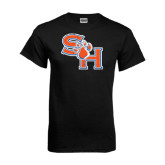 Black T Shirt-SH Paw Official Logo Distressed