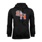 Black Fleece Hood-SH Paw Official Logo