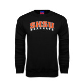 Black Fleece Crew-Arched SHSU Bearkats