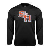 Syntrel Performance Black Longsleeve Shirt-SH Paw Official Logo