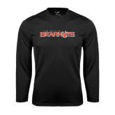 Syntrel Performance Black Longsleeve Shirt-Sam Houston Bearkats