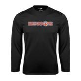 Syntrel Performance Black Longsleeve Shirt-Bearkats